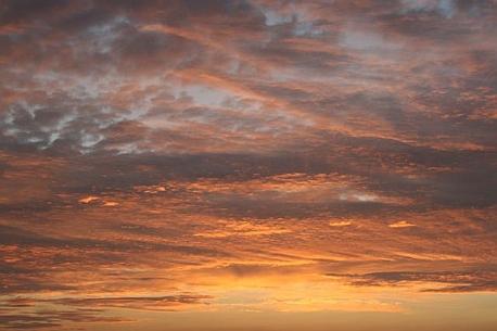 Abendhimmel über Usedom