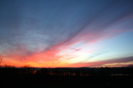 Sonnenuntergang über Usedom 090208