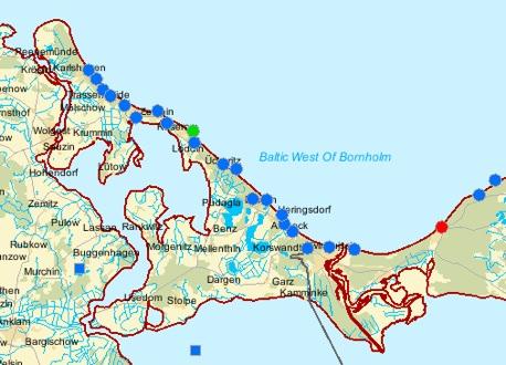 WISE-Karte Usedom