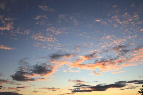 Abendhimmel über Usedom 30.08.2011