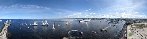 Panorama von der HanseSail 2011
