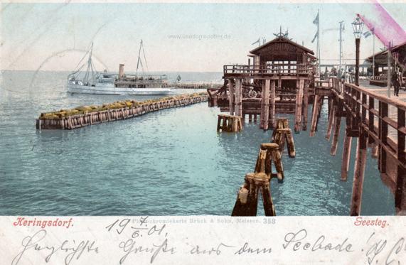 Ansichtskarte Heringsdorf Seebrücke 1901