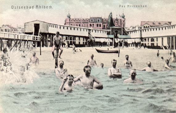 Herrenbad im Seebad Ahlbeck 1905