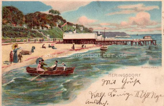 Postkarte Herrenbad Heringsdorf 1900