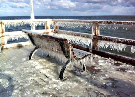 Eiszapfen Seebrücke Bansin