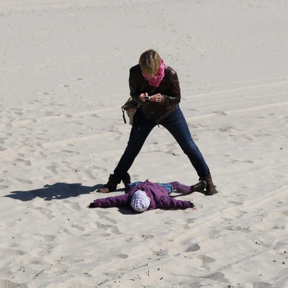 Mutter Kind Strand