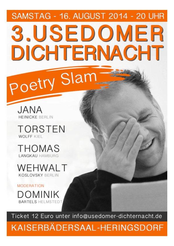 Plakat 3. Usedomer Dichternacht