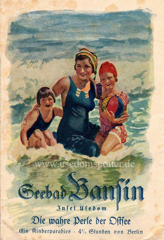 Werbeprospekt der Badeverwaltung Bansin aus dem Jahr 1928