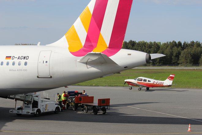 Germanwings A319 am Flughafen Heringsdorf