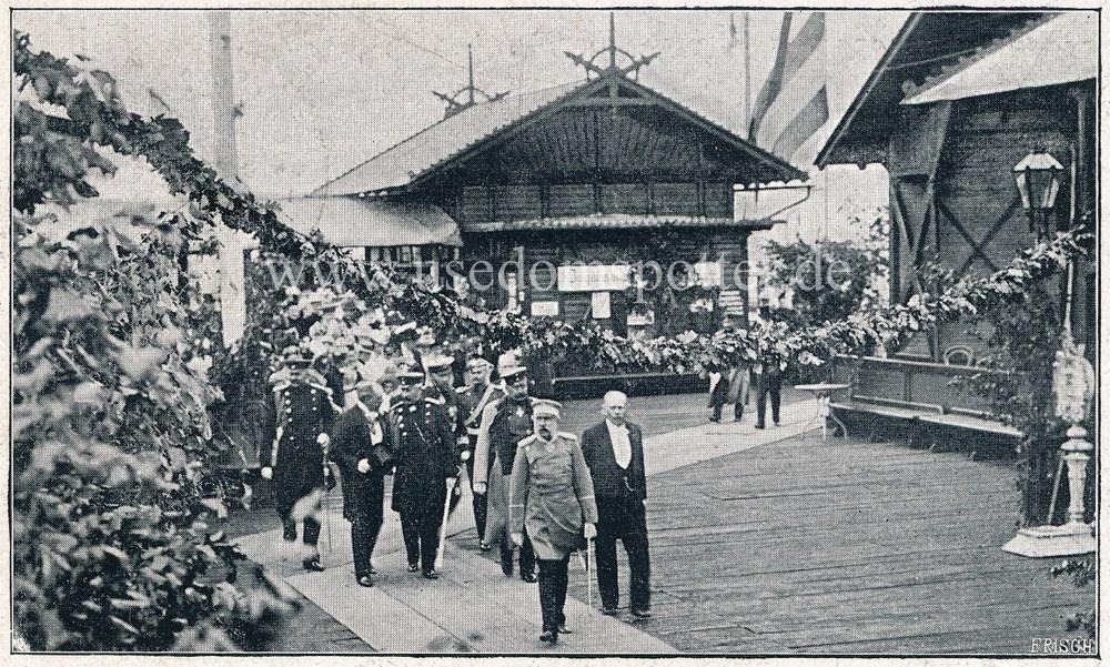 Ankunft König Albert von Sachsen auf der Seebrücke Heringsdorf