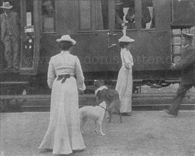 Verabschiedung am Zug Heringsdorf 1903