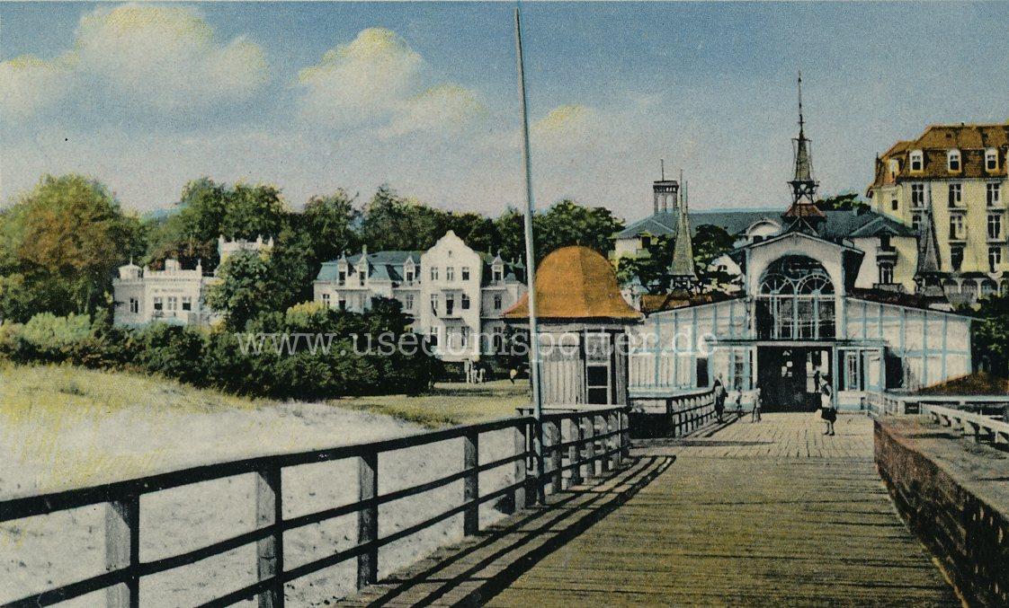 Heringsdorf 1952 Blick von der Brücke